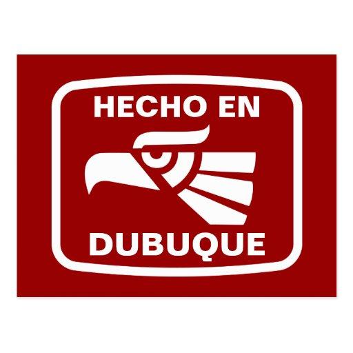 Hecho en Dubuque personalizado custom personalized Postcard