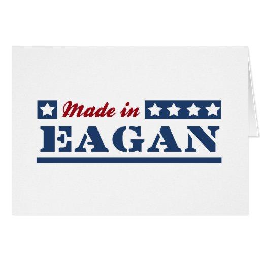 Hecho en Eagan Tarjeton