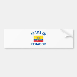 Hecho en Ecuador Pegatina Para Auto