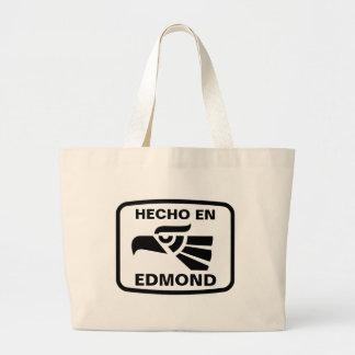 Hecho en Edmond personalizado custom personalized Jumbo Tote Bag