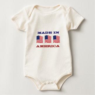 Hecho en el bebé americano patriótico de América Body Para Bebé
