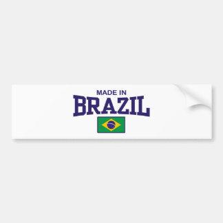 Hecho en el Brasil Etiqueta De Parachoque