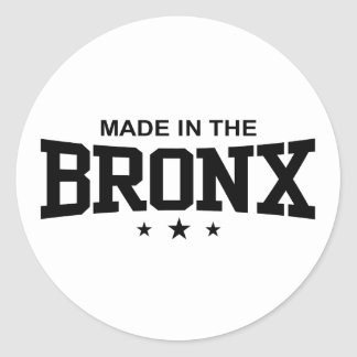 Hecho en el Bronx Pegatina Redonda