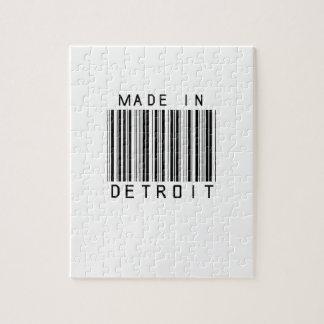 Hecho en el código de barras de Detroit Puzzle