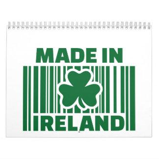 Hecho en el código de barras de Irlanda Calendarios De Pared