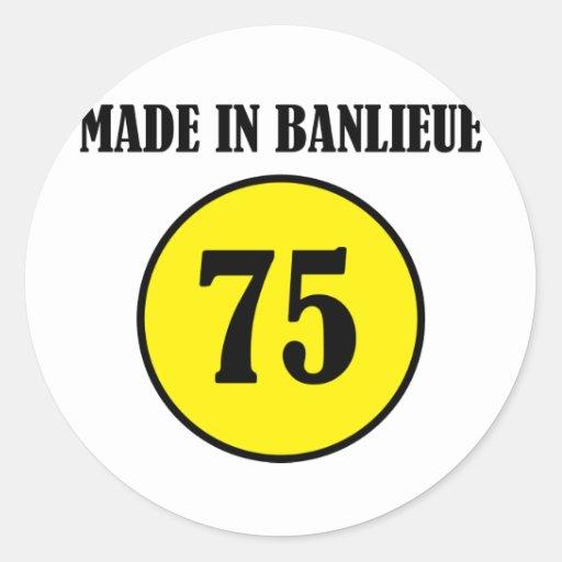 ~ hecho en el ~ de Banlieue Etiquetas Redondas