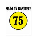 ~ hecho en el ~ de Banlieue Tarjeta Postal