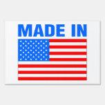 Hecho en el diseño patriótico de América