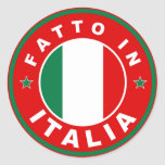 hecho en el fatto Italia de la etiqueta de la