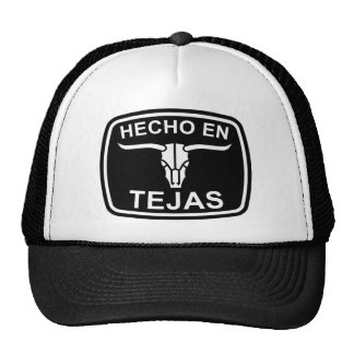 Hecho en el gorra de Tejas