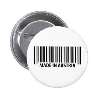 hecho en el icono de Austria Pin Redondo 5 Cm