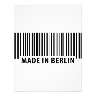 hecho en el icono de Berlín Tarjetas Informativas