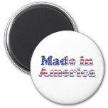 Hecho en el logotipo de América Imán De Frigorífico