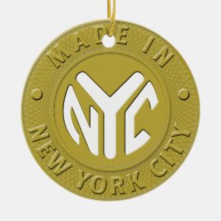 Hecho en el ornamento de New York City Adorno