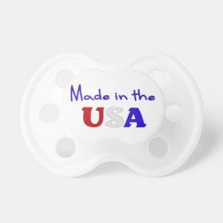 Hecho en el pacificador patriótico del bebé de los chupetes para bebes