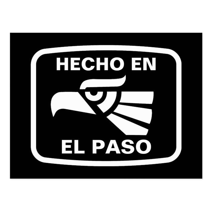 Hecho en El Paso personalizado custom personalized Postcard