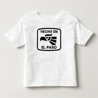 Hecho en El Paso personalizado custom personalized Shirt