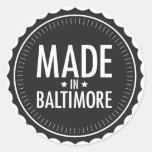 Hecho en el pegatina de Baltimore
