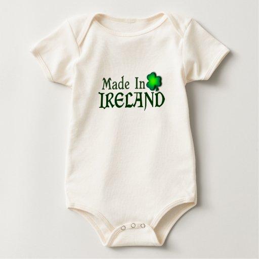 Hecho en el personalizable de Irlanda Traje De Bebé
