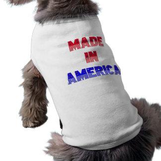 Hecho en el ~Pet Jacket~ de América Playera Sin Mangas Para Perro
