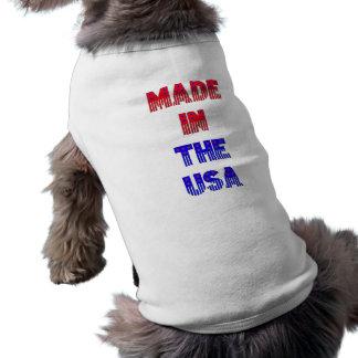 Hecho en el ~Pet Jacket~ de los E.E.U.U. Playera Sin Mangas Para Perro