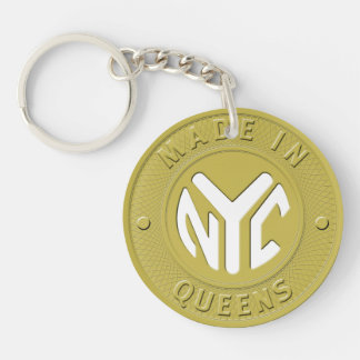 Hecho en el Queens de Nueva York Llaveros