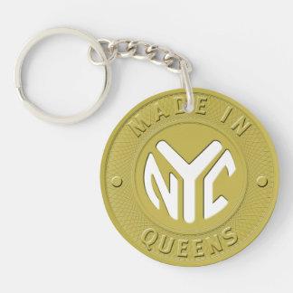 Hecho en el Queens de Nueva York Llavero Redondo Acrílico A Una Cara