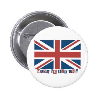 Hecho en el Reino Unido Pin Redondo De 2 Pulgadas