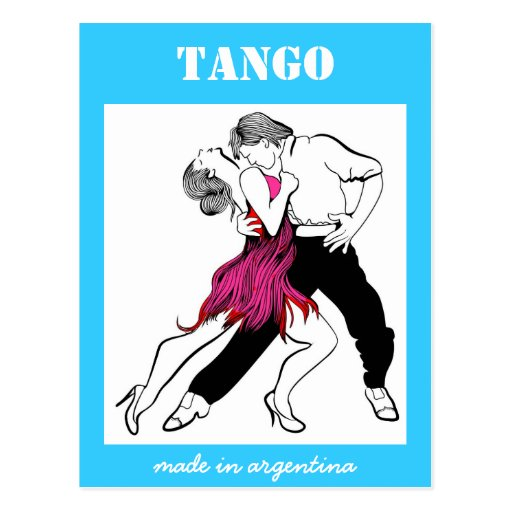 Hecho en el tango de la Argentina Tarjetas Postales