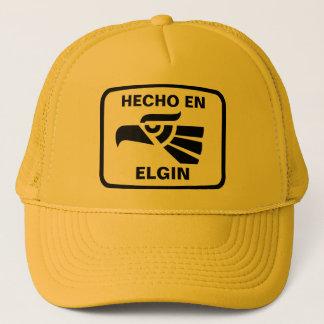 Hecho en Elgin personalizado custom personalized Trucker Hat