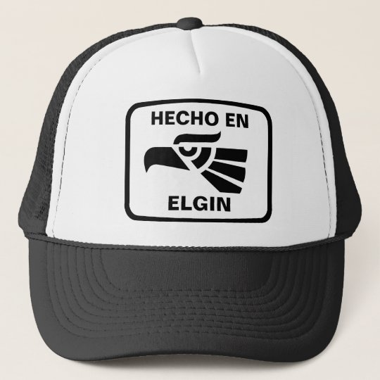 df9c5fa680377 Hecho en Elgin personalizado custom personalized Trucker Hat