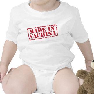 Hecho en enredadera divertida del bebé de Vachina Camiseta