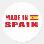 Hecho en España Pegatina Redonda