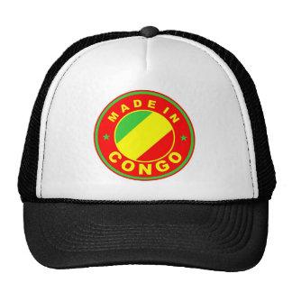 hecho en etiqueta del producto de la bandera de pa gorras de camionero