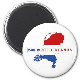 hecho en etiqueta holandesa de la bandera de la imanes de nevera