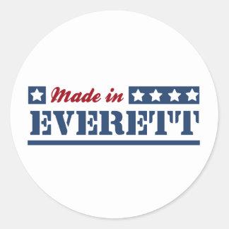 Hecho en Everett WA Etiqueta Redonda