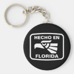 Hecho en Florida personalizado custom personalized Key Chains