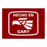 Hecho en Gary personalizado custom personalized Cards