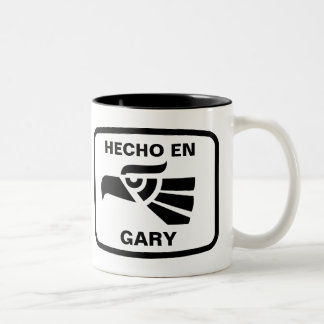 Hecho en Gary personalizado custom personalized Two-Tone Coffee Mug