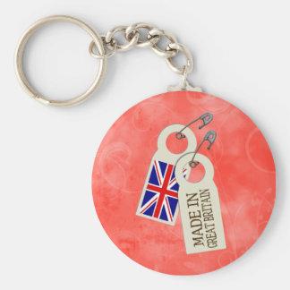 Hecho en Gran Bretaña Llavero Redondo Tipo Pin