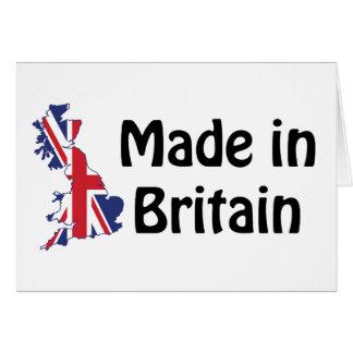 Hecho en Gran Bretaña Tarjeta De Felicitación