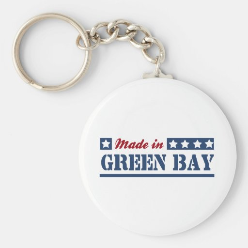 Hecho en Green Bay Llaveros Personalizados