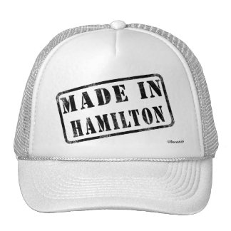 Hecho en Hamilton Gorro