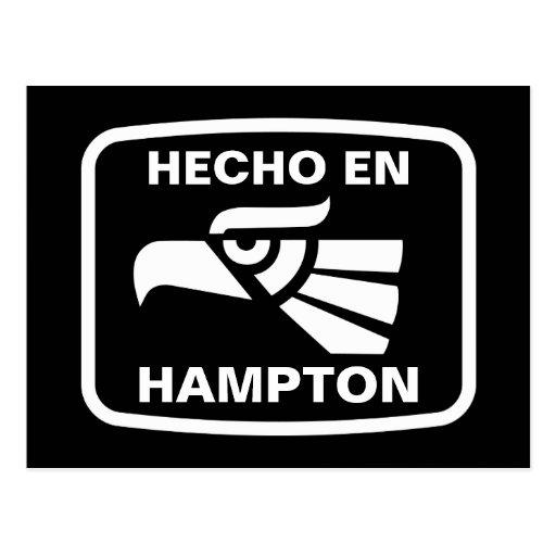 Hecho en Hampton personalizado custom personalized Postcard