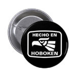 Hecho en Hoboken personalizado custom personalized Pinback Button
