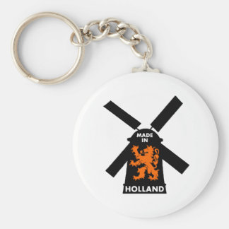 Hecho en Holanda Llavero Redondo Tipo Pin
