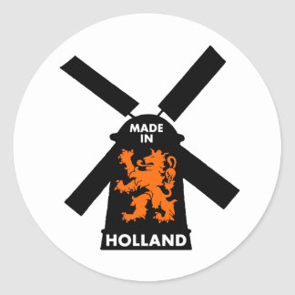 Hecho en Holanda Pegatina Redonda