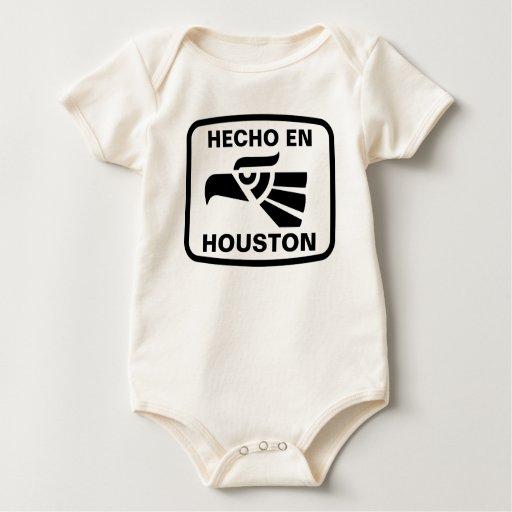 Hecho en Houston personalizado custom personalized Baby Creeper