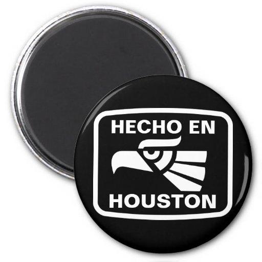 Hecho en Houston personalizado custom personalized 2 Inch Round Magnet