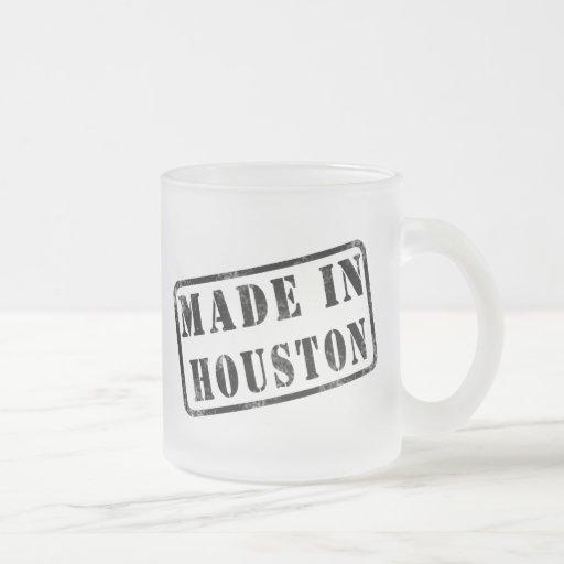 Hecho en Houston Taza Cristal Mate